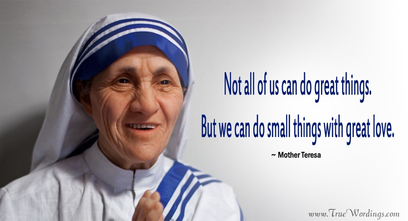 Mother Teresa Quotes on Working
