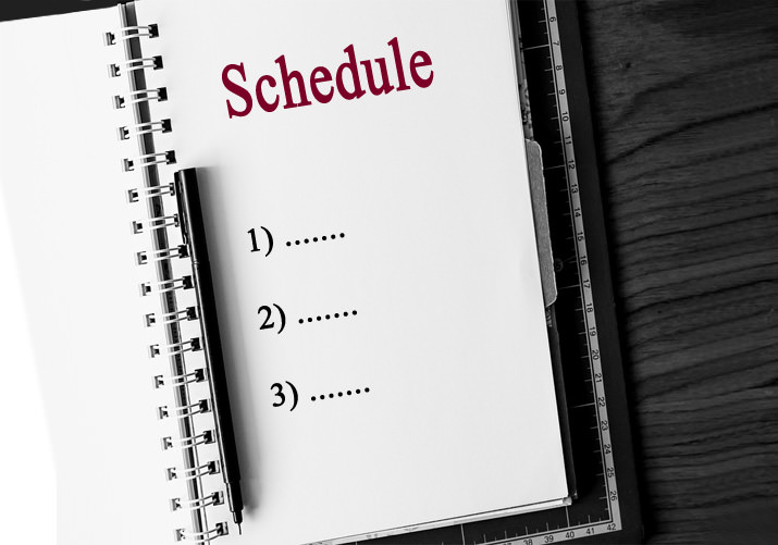 Making a to-do list and running on schedule