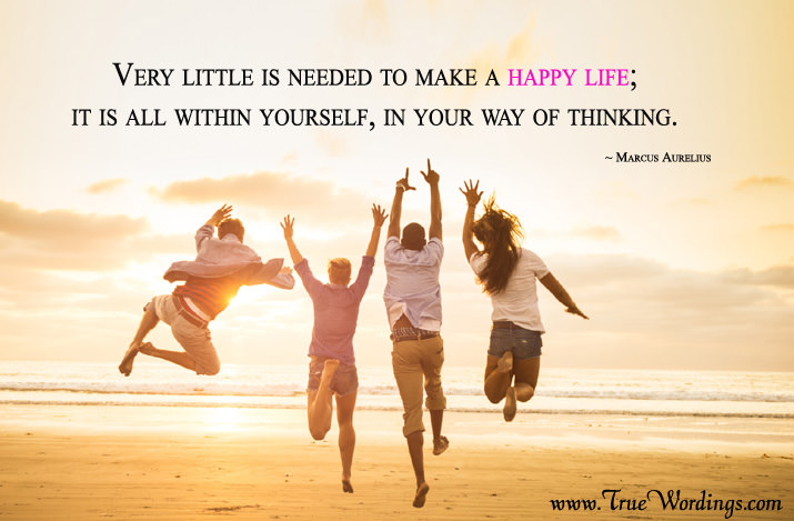how to live happy quotes