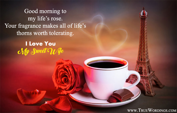 I love you my wife good morning image