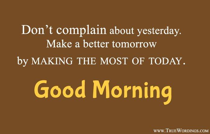 Good Morning Quotes in English Language