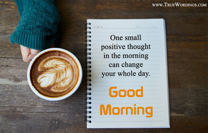 Positive Thoughts Good Morning Picture