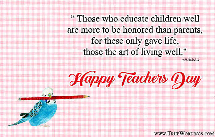 5th October Teachers Day Lines
