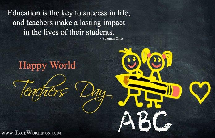 Cute 5th oct World teachers day lines