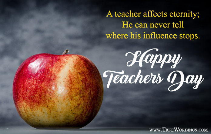 Teachers Day Quotations with Apple Pic