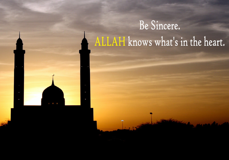 Allah Knows what is in the heart